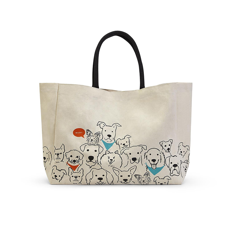 Dog Crew Tote Bag by Two's Company
