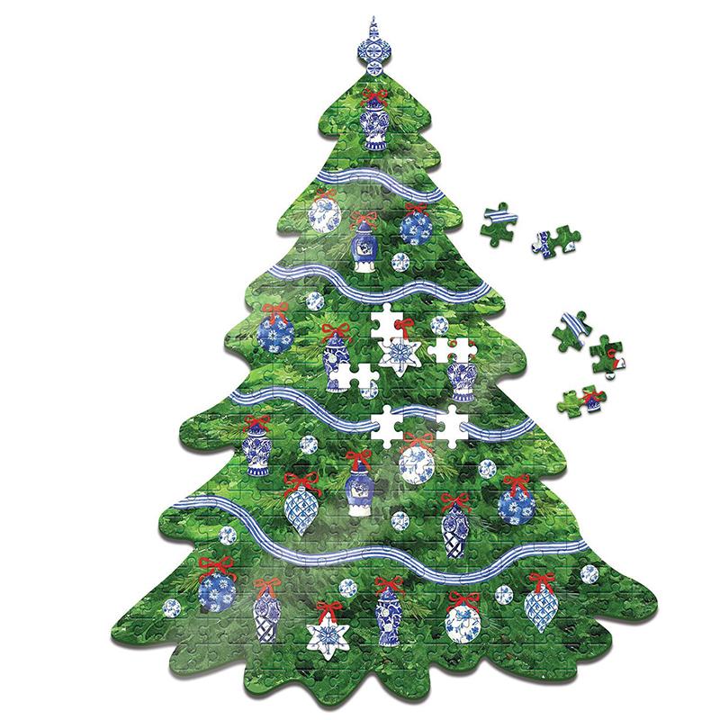 Christmas Puzzle Tree Shape