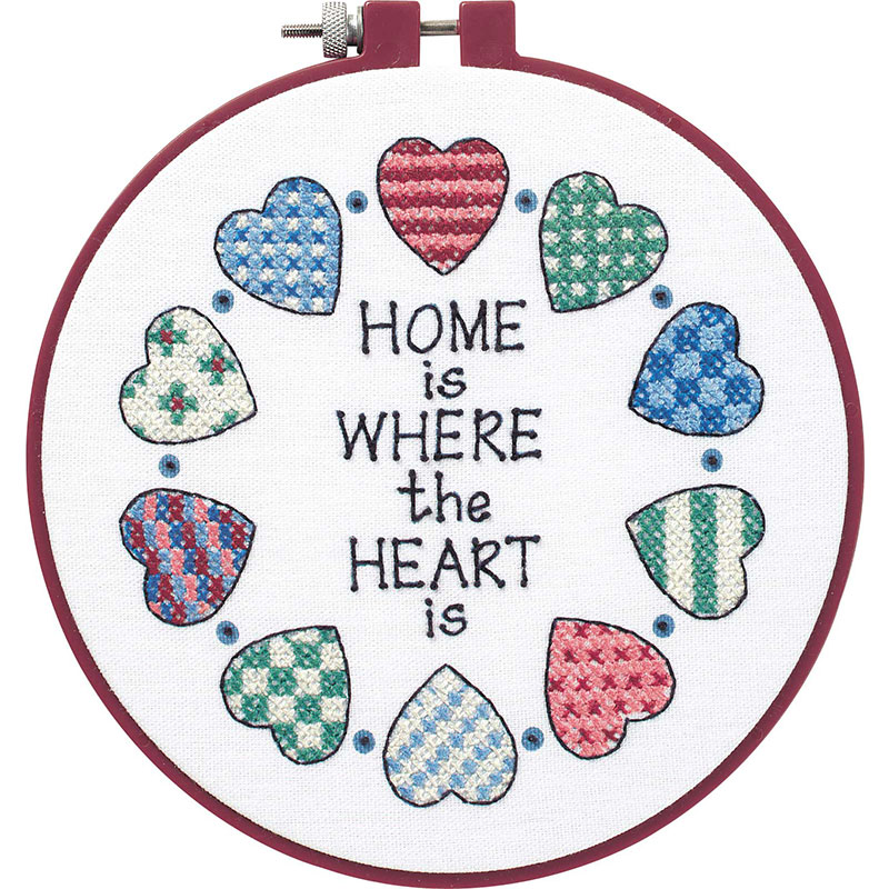 Home And Heart Cross Stitch Kit