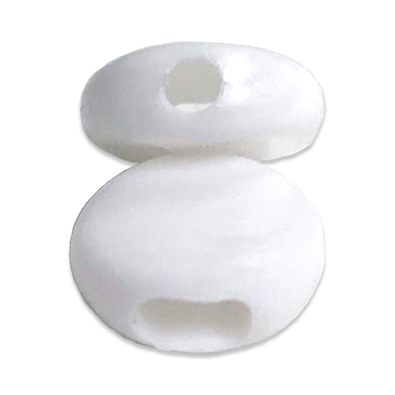 Mask Beads For Elastic 50ct Wht