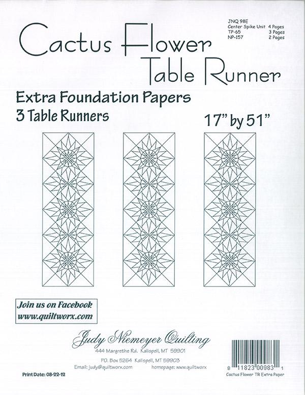 Cactus Flower Table Runner Extra Papers