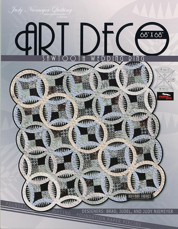 Art Deco Sawtooth Wedding Ring Quilt Pattern by Judy Niemeyer