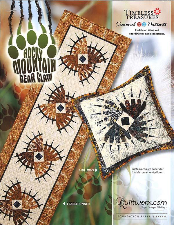 Rocky Mountain Bear Claw Table Runner + Pillows
