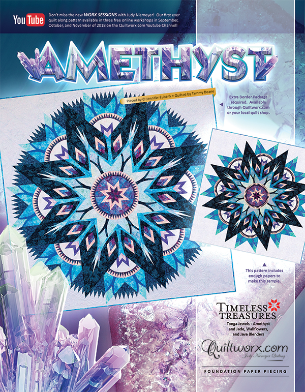 Amethyst Pattern and Fabric Kit with Extra Border Package
