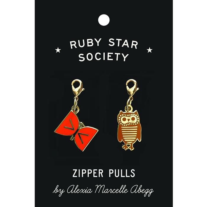 Owl & Butterfly Zipper Pulls