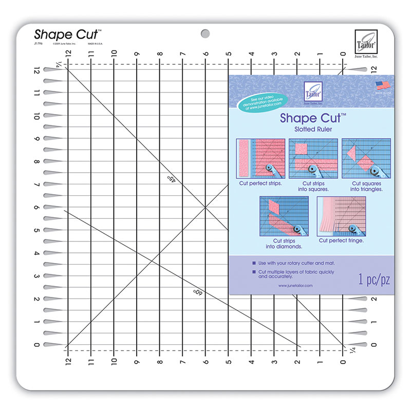 Shape Cut Slotted Ruler