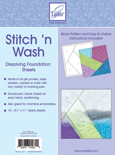 Quilter's Stitch and Wash Foundation Sheets