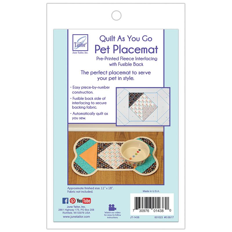 Quilt as you go -  Pet Placemat Dog Bone