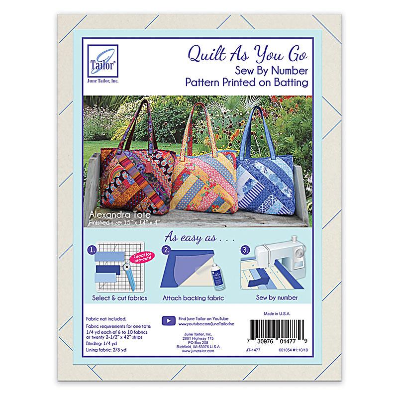 Quilt As You Go - Alexandra Tote Bag with Batik Strips