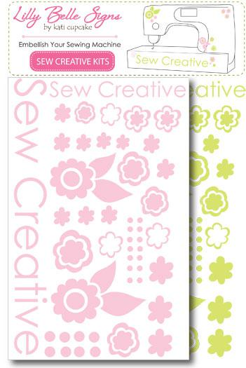 LILLY BELLE SIGNS SEW CREATIVE KITS - PINK/MINT