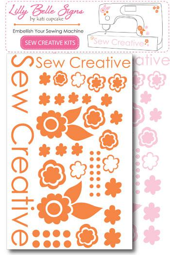 LILLY BELLE SIGNS SEW CREATIVE KITS - PINK/ORANGE