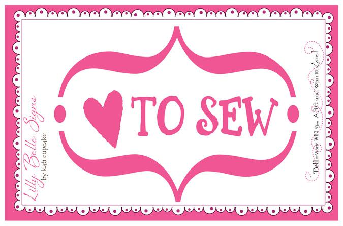 Lilly Belle Love To Sew Decal
