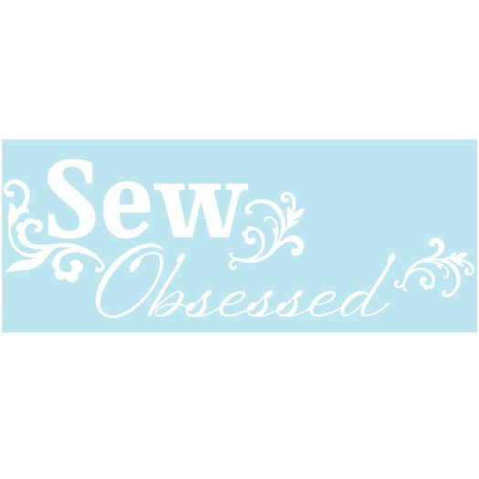Lilly Belle Sew Obsessed Winter White Car Decal