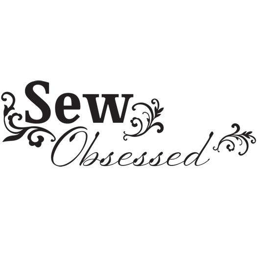 Lilly Belle Sew Obsessed Jet Black Wall Decal
