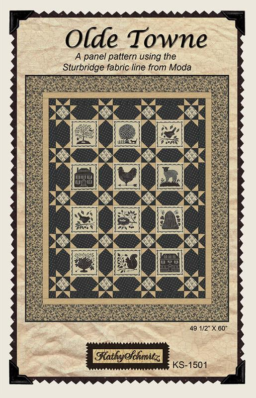 Olde Towne pattern and Sturbridge fabric panel