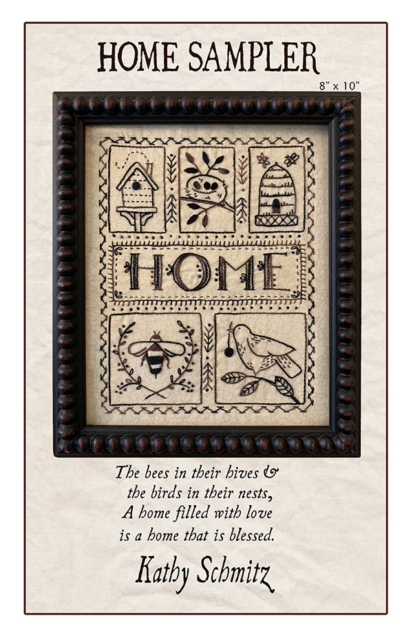 Home Sampler Embroidery Pattern