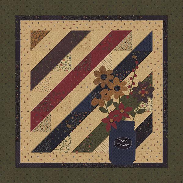 U Pick Flowers KT Charm Pattern for Fresh Cut Flowers - 36 square
