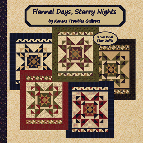 Flannel Days Starry Nights - Quilt Pattern Book by Kansas Troubles