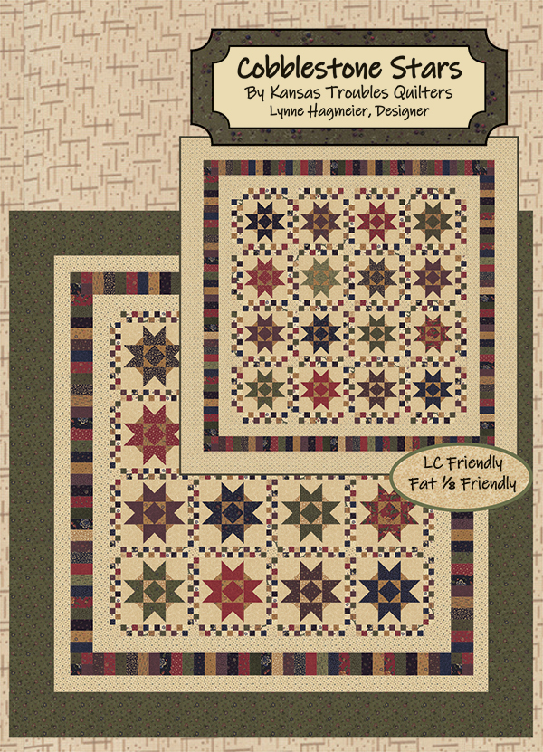 Through the Years Cobblestone Stars Layer Cake Pattern designed by Lynne Hammier