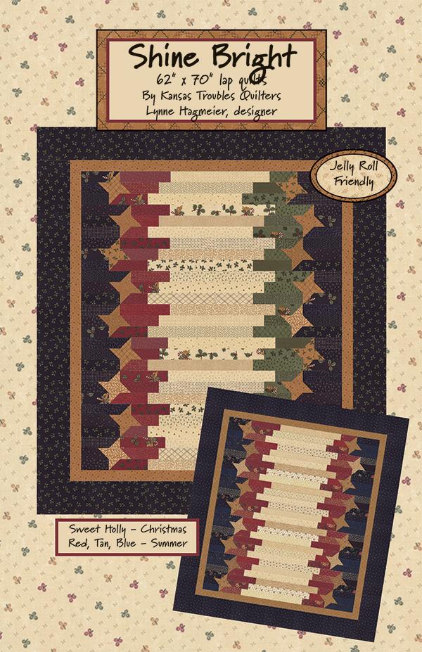 Shine Bright - Lap Quilt Pattern - 62 x 70