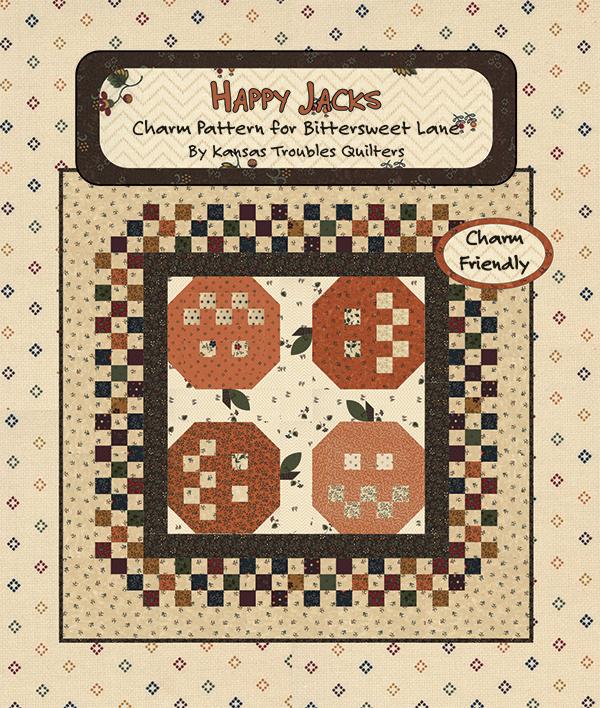 Bittersweet Lane Happy Jacks, charm pack friendly pattern, 29 x 29 designed by Kansas Troubles