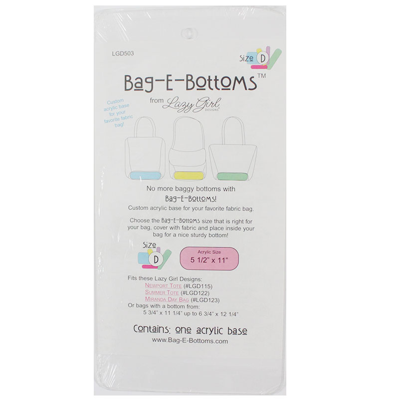 Bag E Bottoms 5.5 x 11