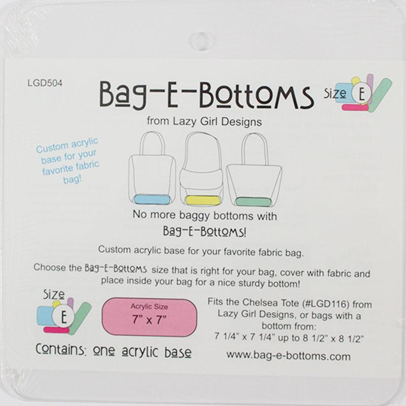 Bag E Bottoms 7x7 Size E