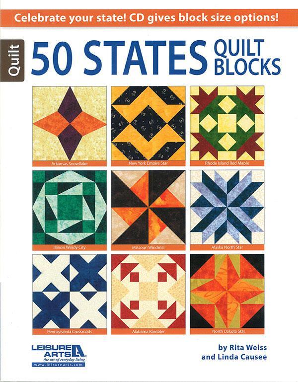 50 States Quilt Blocks / Rita Weiss & Linda Causee/ Leisure Arts