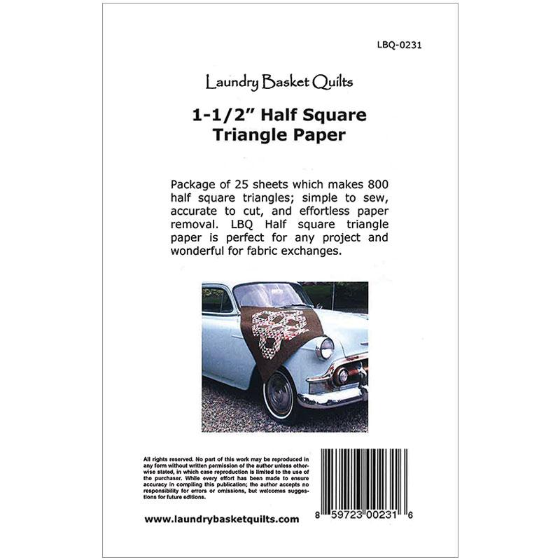 1 1/2 Half Sq Triangle Paper