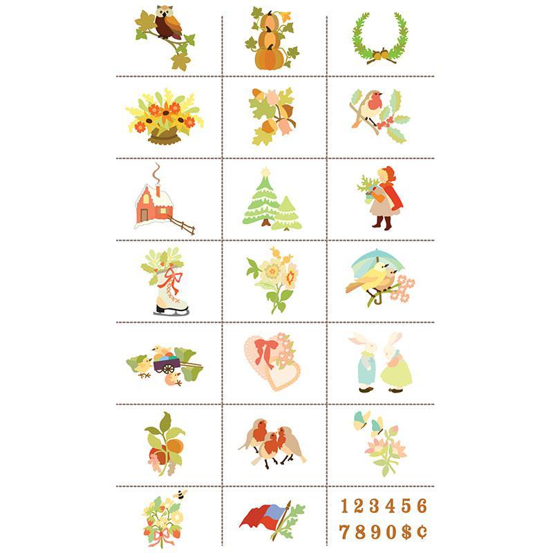 Slice Design Card Vintage Seasons
