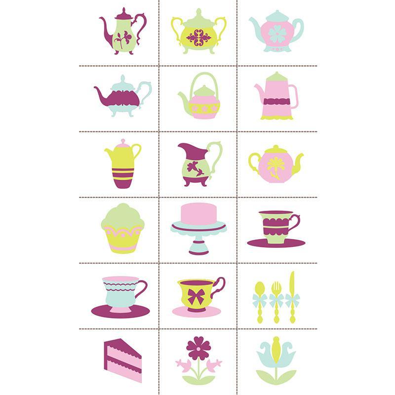 Slice Design Card Tea Party