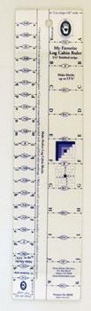 Log cabin ruler 5/8 & 1 1/4
