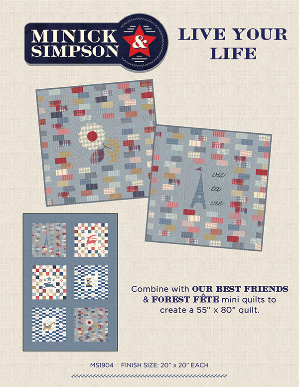 Live Your Life Wall Hanging Quilt Kit