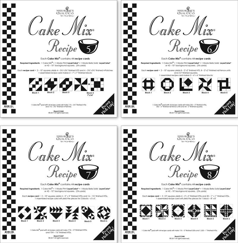 Cake Mix Recipe 5-8 Assortment