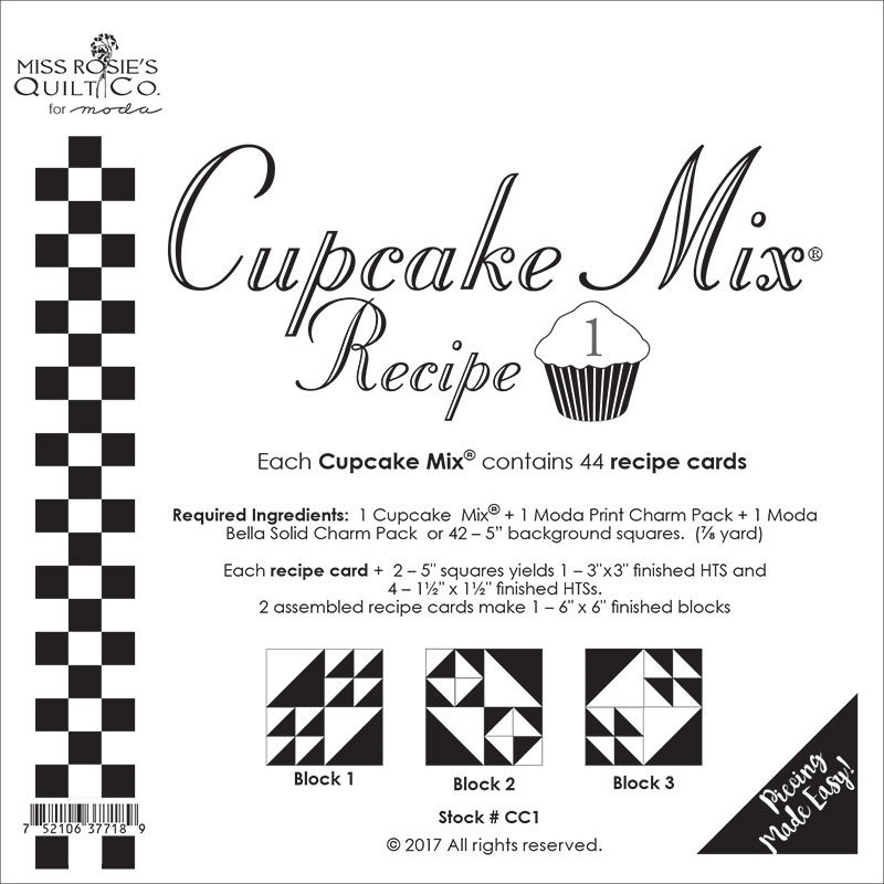 Cupcake Mix Recipe - Paper Piecing