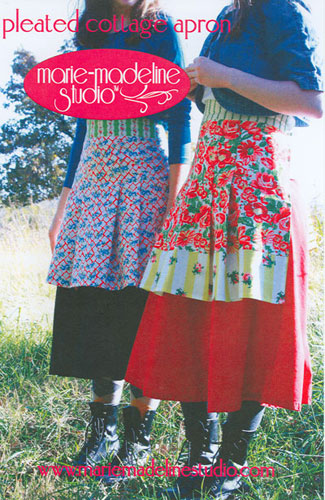 Pleated Cottage Apron by Marie-Madeline Studios