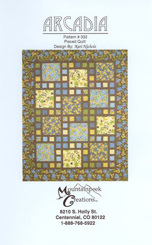Arcadia Quilt Pattern by Mountainpeek Creations