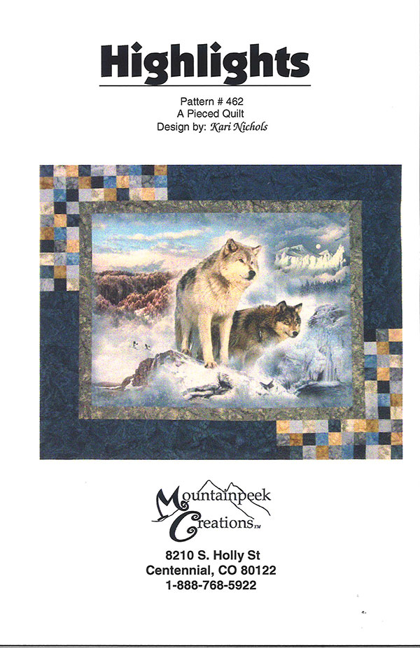 Mountainpeek Creations Highlights Quilt Pattern for Panels