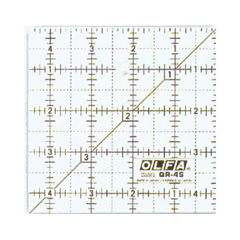 Frosted Ruler Square 4.5