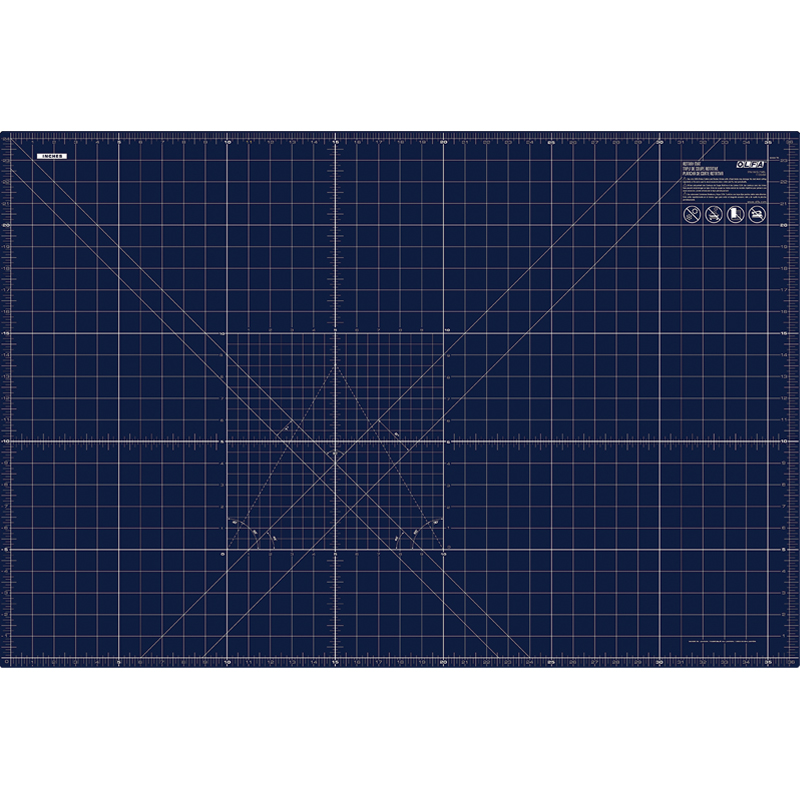 Navy Rotary Mat Double Side - 24 x 36