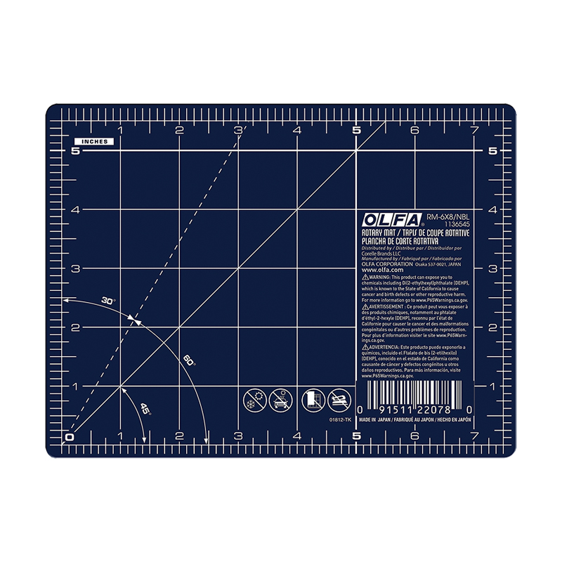 Rotary Mat Double Side 6x8 Navy