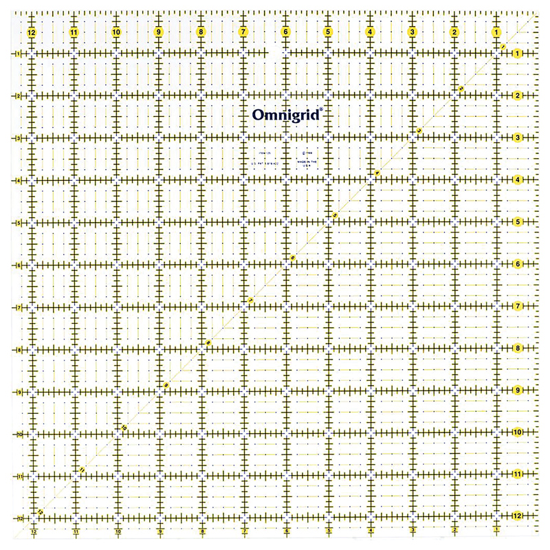 QUILTERS SELECT NON-SLIP RULER 12.5 X 12.5 QS-RUL12.5N