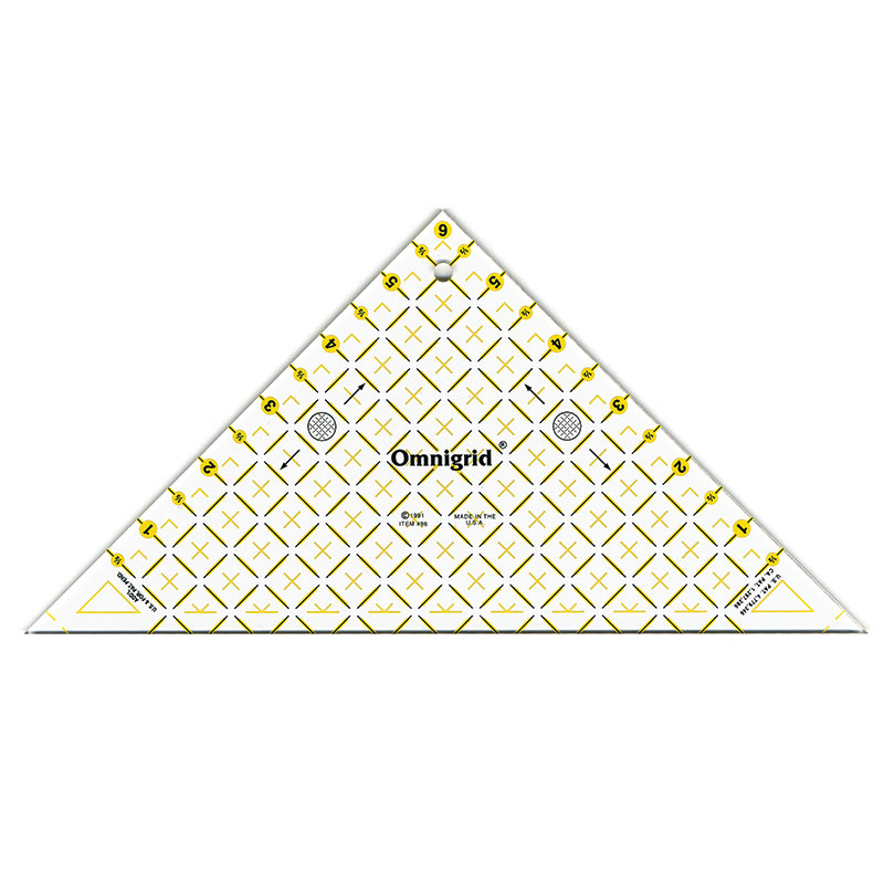 Omnigrid Ruler Right Triangle Up to 8 Sq