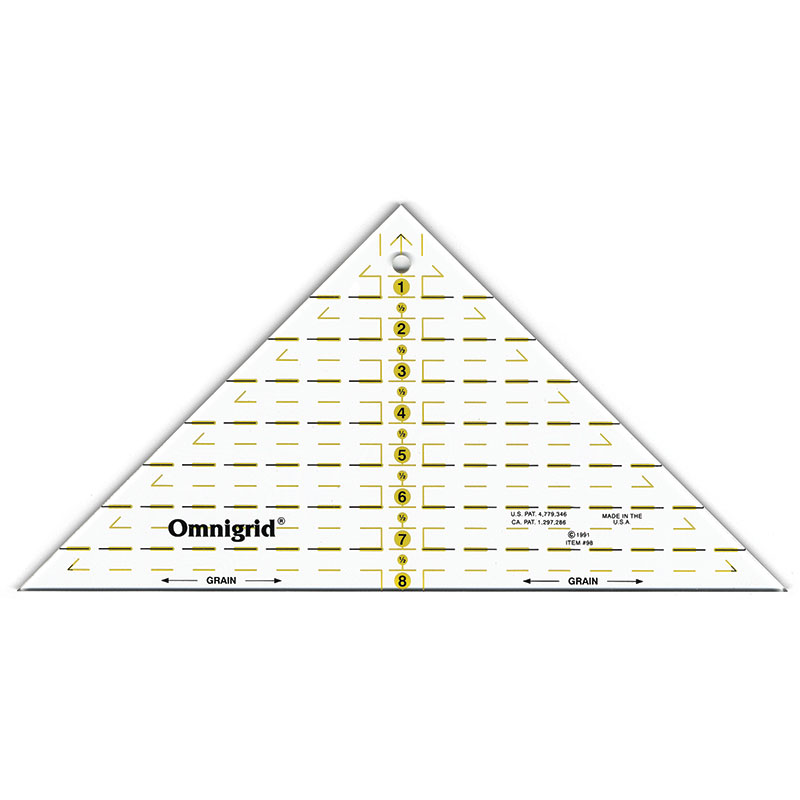Omnigrid Right Triangle 45 degree ruler