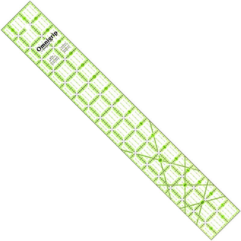 Omnigrid Omnigrip Neon Ruler 2 1/2in x 18in