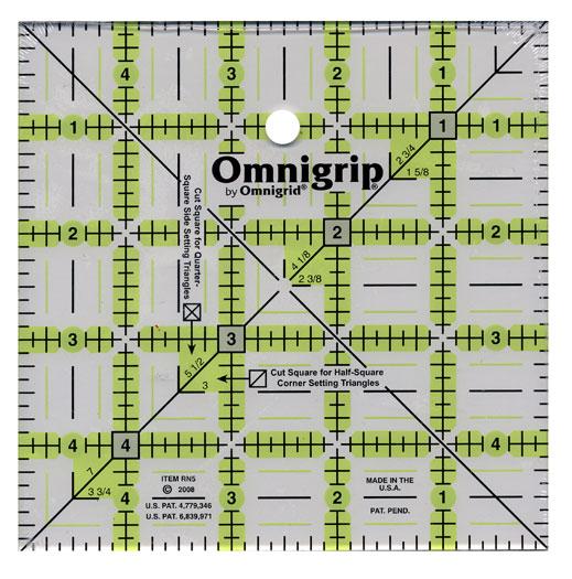 Square Omnigrip Ruler 5 inch