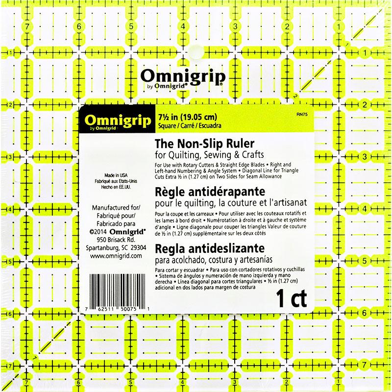 Omnigrip Square Ruler 7.5
