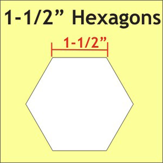 *1 1/2? Hexagon Papers  50pcs