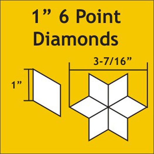 6 Point Diamond 1 75pcs