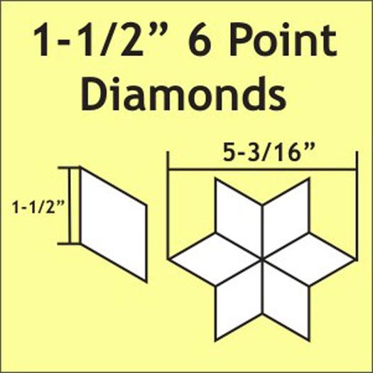 N- Paper Pieces 6-Point Diamond 1 1/2 (75 pieces)